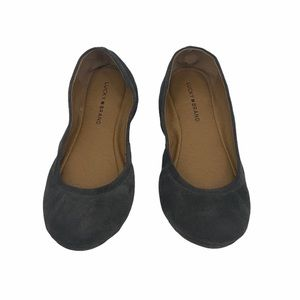 Women's Lucky Brand Gray Suede Flats size 10